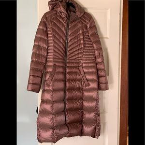 Bernardo silky down chocolate brown coat